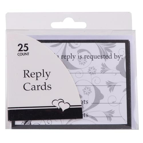 Wholesale Black & White Reply Cards Any Occasion