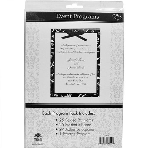 Wholesale White & Silver Wedding Event Programs