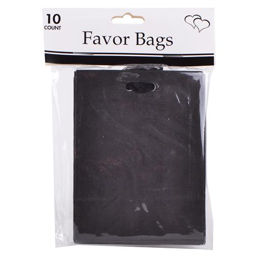 """Wholesale Black Favor Bags 4""""""""x3""""""""x2 with Ribbon"""