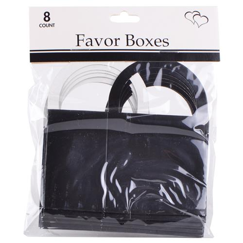 "Wholesale Black Favor Boxes 2""""x2.5""""x1.5"""" with Handles"