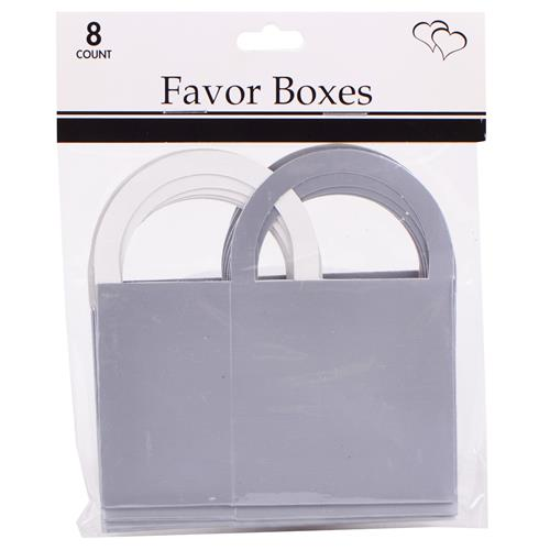 "Wholesale Silver Favor Boxes 2""""x2.5""""x1.5"""" with Handles"