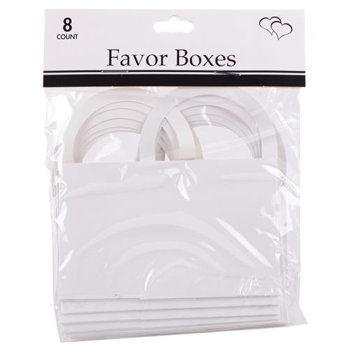 "Wholesale White Favor Boxes 2""""x2.5""""x1.5"""" with Handles"