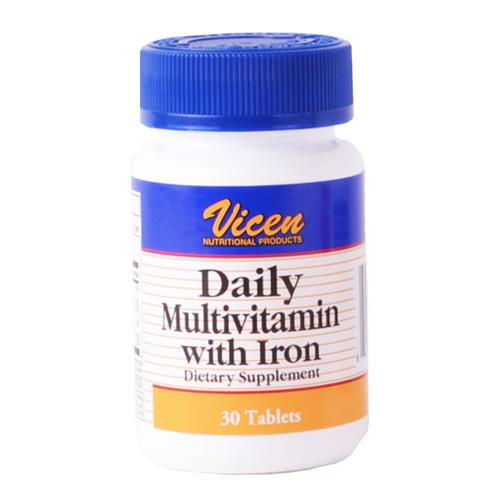 Wholesale Vicen Daily MultiVitamin w/Iron - 30 tablets