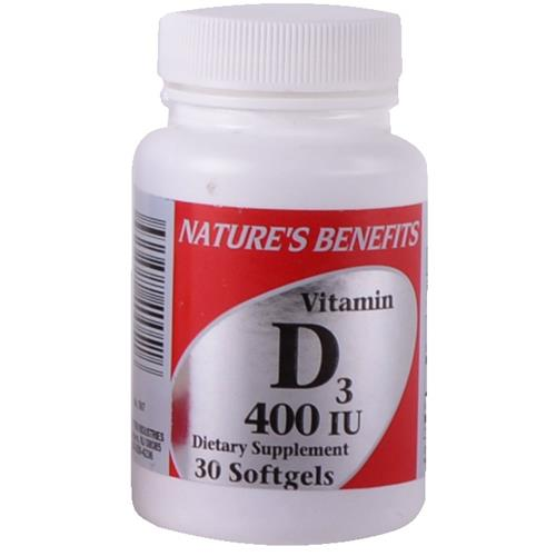 Wholesale Nature's Benefits Vitamin D3 - 400 IU