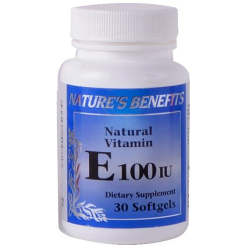 Wholesale Nature's Benefits Vitamin E 100IU Softgels