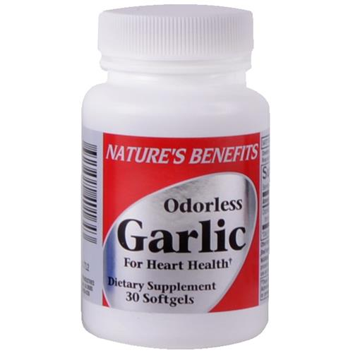 Wholesale Nature's Benefits Odorless Garlic Softgels