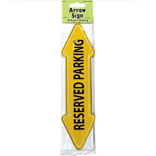 "Wholesale ""Reserved Parking"" Arrow Sign Metal Magnet 2x7.75"""