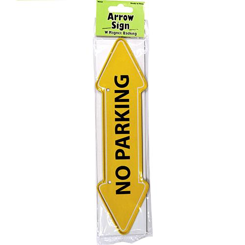 """Wholesale """"No Parking"""" Arrow Sign Metal Magnet 2"""" X 7.75"""""""