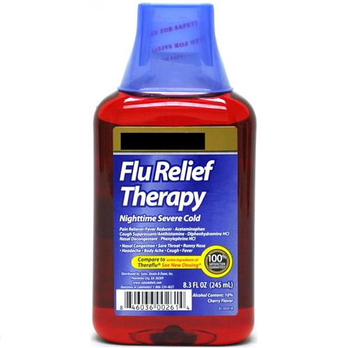 Wholesale Good Sense Flu Relief Therapy Nitetime Severe Cold Cherry (Theraflu) Exp 4/15