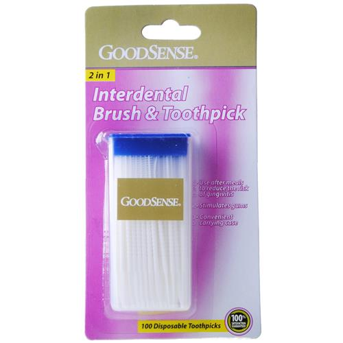 Wholesale Good Sense Interdenal Brush & Toothpick with Carri