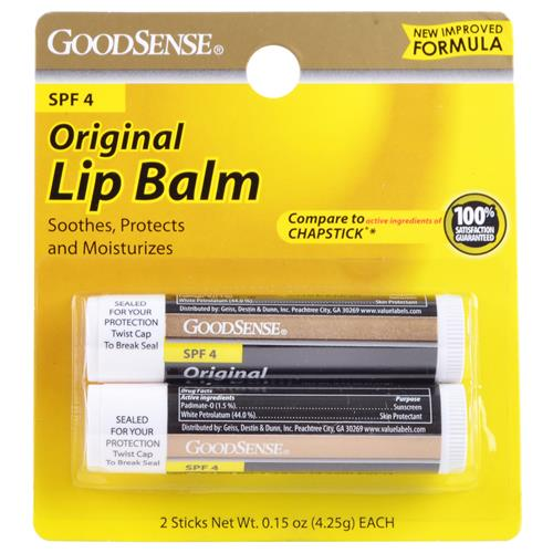 Wholesale Good Sense Original Lip Balm w/SPF 4 (Chapstick Original) Expires 4/15