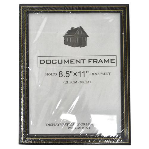 Wholesale document frame black w gold trim 85quotquotquotquot x 11 for Cheap document frames
