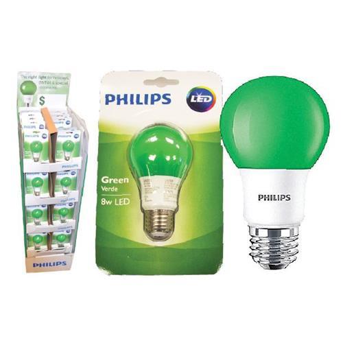 Wholesale 8W GREEN LED A19 LIGHT BULB