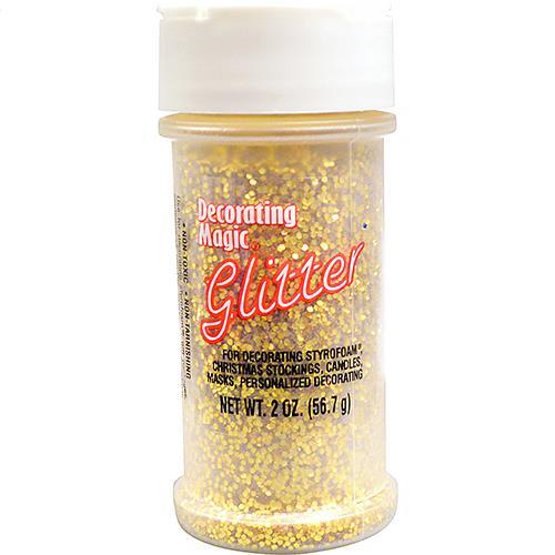 Wholesale Gold Glitter Shaker Bottle 2 oz