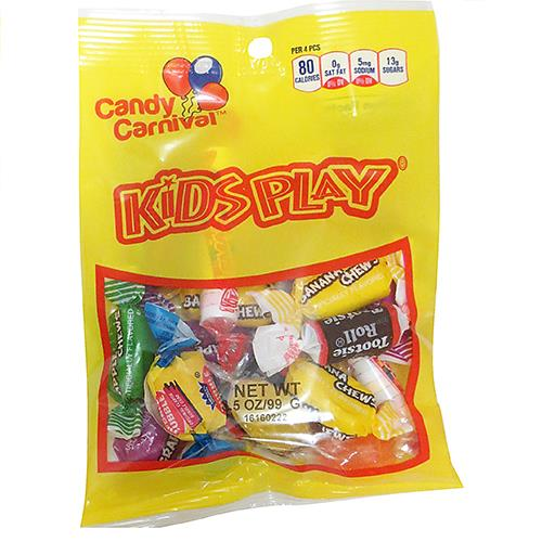 Wholesale Candy Carnival Kids Play Assortment - Peggable bags