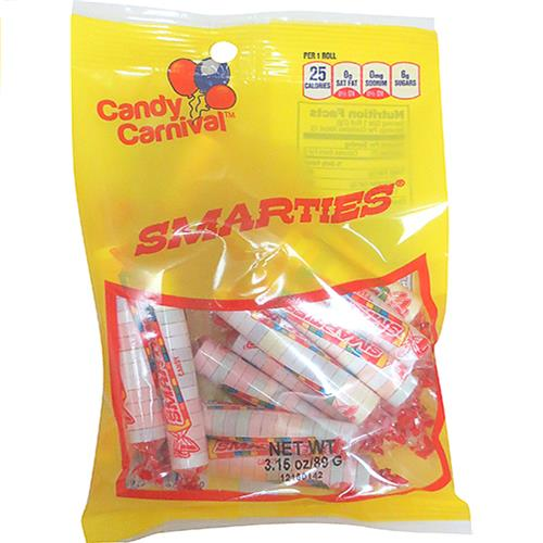 Wholesale Candy Carnival Smarties Candy - Peggable bags