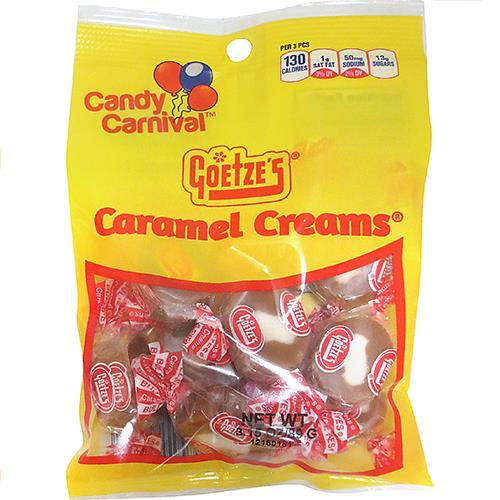 Wholesale Candy Carnival Caramel Creams - peggable bags