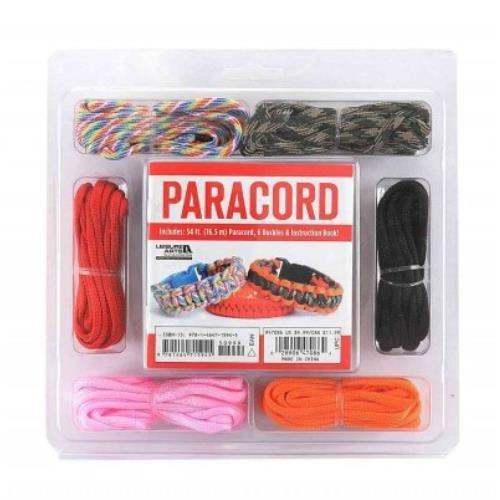 Wholesale PARACORD BRACELET KIT 9x6' CORDS & 6 BUCKLES