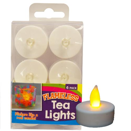 Wholesale 6PK BATTERY OPERATE TEA LIGHTS