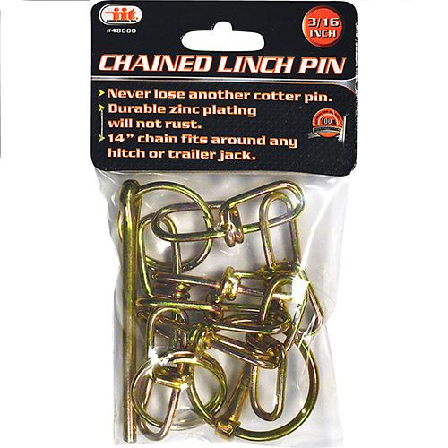 "Wholesale 3/16"" CHAINED LYNCH PIN"