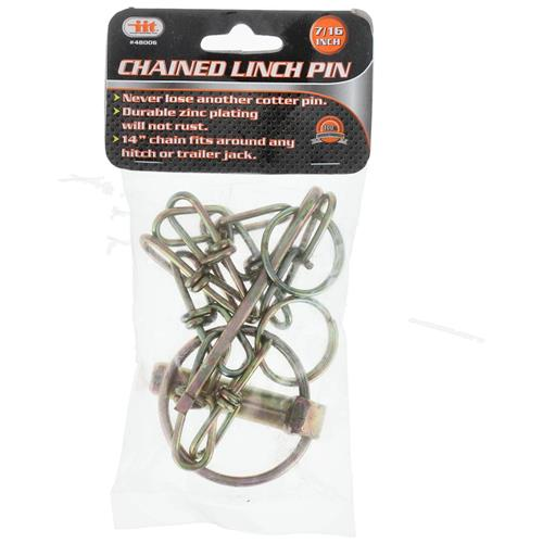 """Wholesale 7/16"""" CHAINED LYNCH PIN"""