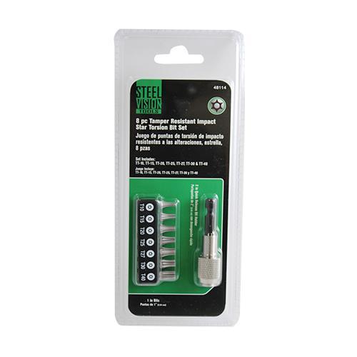 Wholesale 8PC TAMPER REISTANT STAR IMPACT TORSION BIT & HOLDER