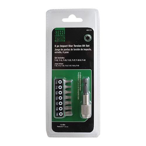 Wholesale 8PC STAR IMPACT TORSION BIT & HOLDER