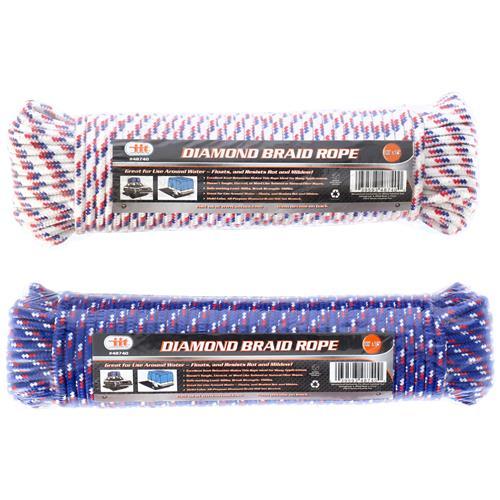 """Wholesale 100' X 1/4"""" Diamond Braid Rope"""