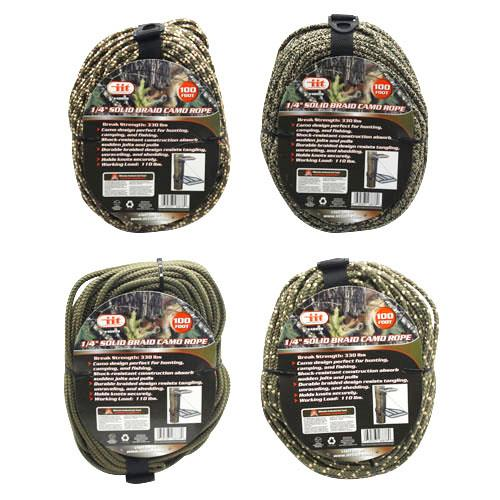 Wholesale 1/4x100' SOLID BRAID CAMO ROPE