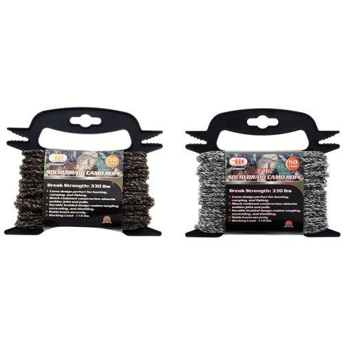 Wholesale 3/16x50' SOLID BRAID CAMO ROPE
