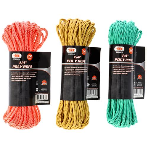 "Wholesale 72' X 1/4"""" Poly Rope"