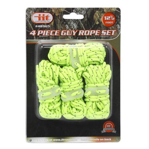 Wholesale 4pk 12.5' NEON GUY ROPE SET