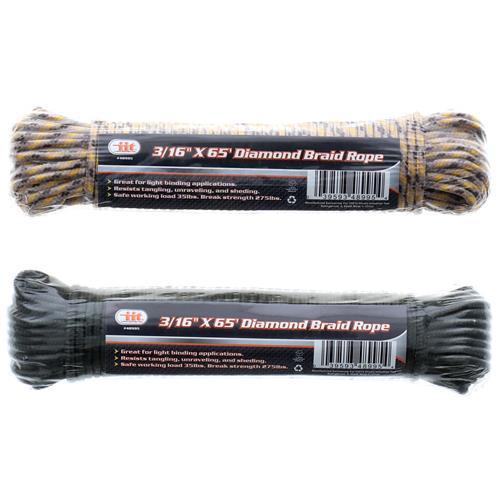 """Wholesale 3/16"""""""" X 65' Diamond Braid Rope"""