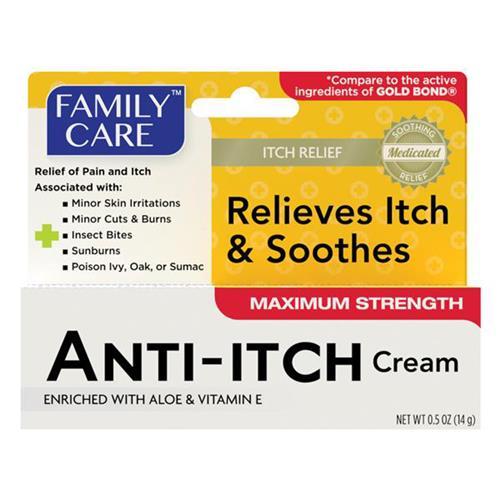 Wholesale Family Care Anti-itch Relief Cream Hydrocortisone 1% 0.5oz