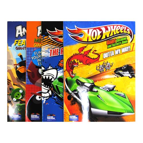 wholesale angry birds hot wheels coloring books activi - Wholesale Coloring Books