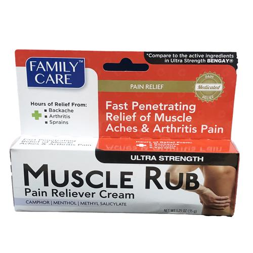 Wholesale Family Care Pain Relieving Muscle Rub Cream 1.25oz