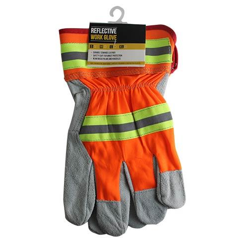 Wholesale COWHIDE REFLECTIVE WORK GLOVE LARGE & X/L