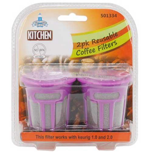 Wholesale 2pk REUSABLE COFFEE FILTERS