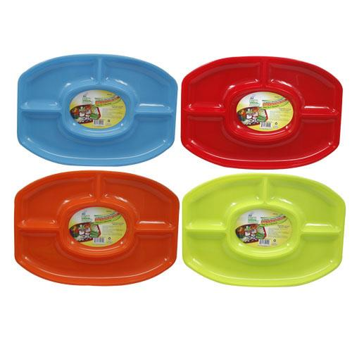Wholesale 4 SECTION SERVING PLATTER 18-1/4 x 13''