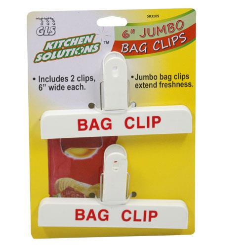 Wholesale JUMBO BAG CLIPS - 6""