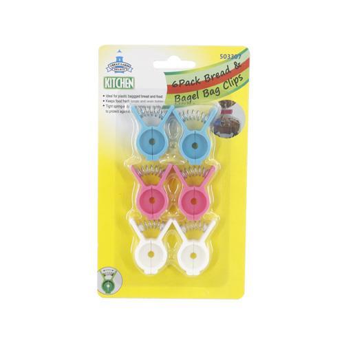 Wholesale 6pk BREAD & BAGEL BAG CLIPS