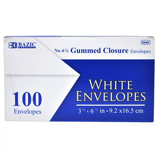 Wholesale Envelopes - Gummed - White - Office - Bazic
