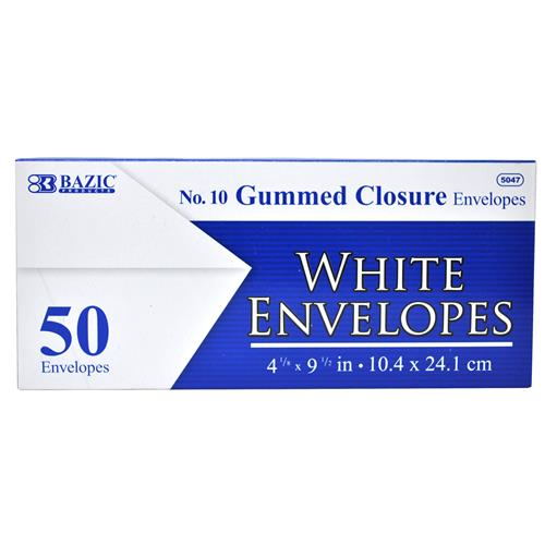 Wholesale #10 White Envelope with Gummed Closure