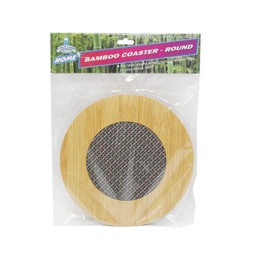 Wholesale BAMBOO COASTER -ROUND
