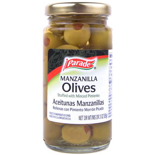 Wholesale Parade Manzanilla Olives stuffed with minced pimento