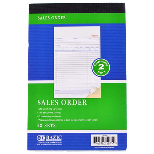 """Wholesale Sales Order Carbonless 2 Part 5.56"""" x 8.43"""""""