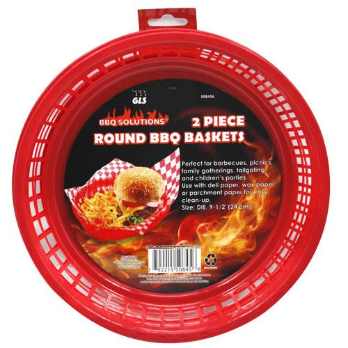 Wholesale 2pc ROUND BBQ BASKETS