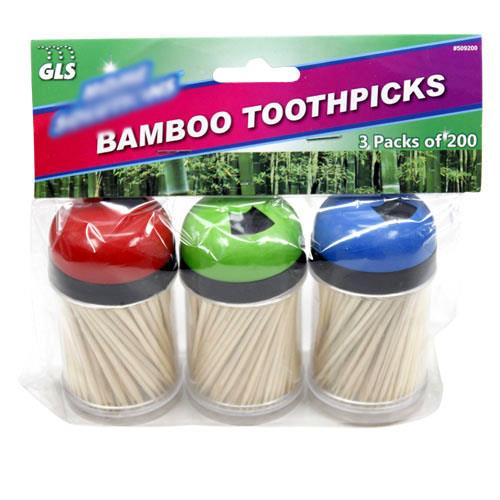Wholesale GLSelect Home Solutions Wooden Toothpicks with 3 Dispensers