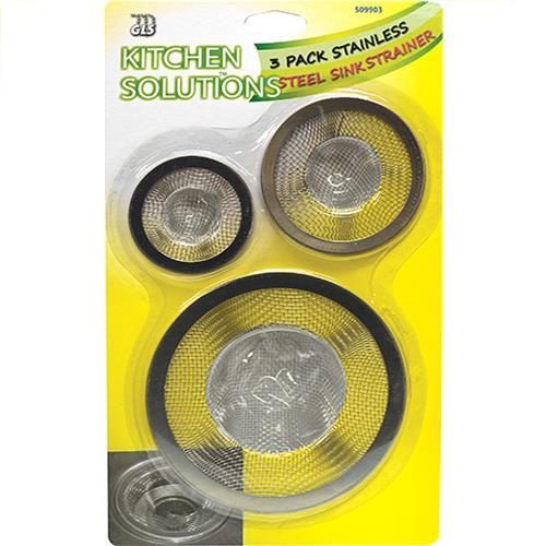 Wholesale 3pk STAINLESS STEEL SINK STRAINER
