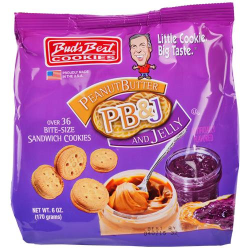 Wholesale Bud's Best Bag Cookies - Peanut Butter & Jelly